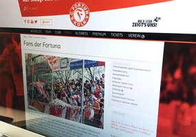 Screenshot der Fortuna-Fans auf der Fortuna-Website.