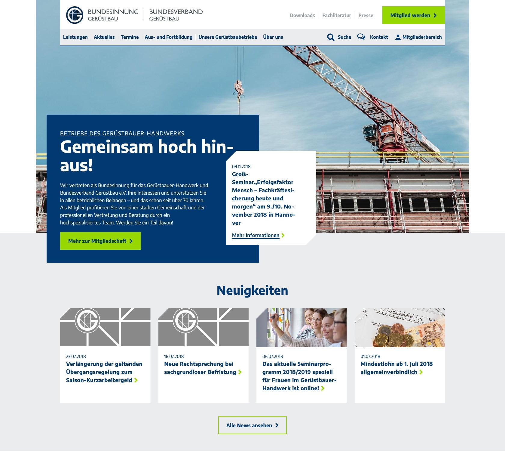 Gemeinsam hoch hinaus – Website der Bundesinnung für das Gerüstbauer ...